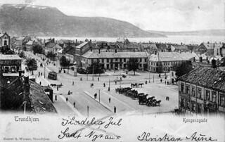 Kongens gate og torget (ca. 1905)