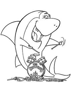 Pin jaws 5 colouring pages on pinterest for Jaws coloring pages