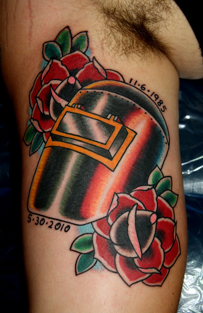Welding Mask Tattoo