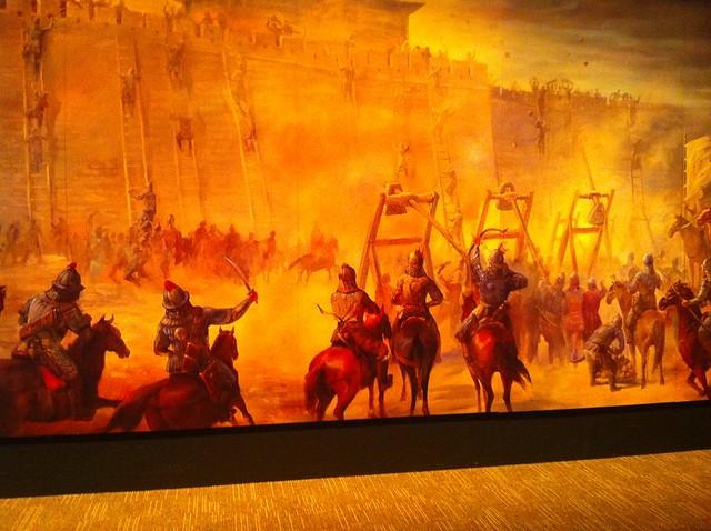 Mural of seige warfare explore btaroli 39 s photos on for Siege mural rabattable