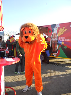 Netherlands fan dressed as a lion