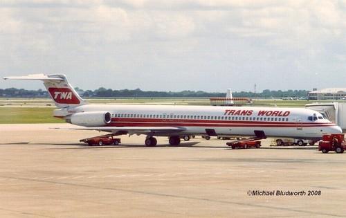 TWA N9404V MD-80 at HOU 1993