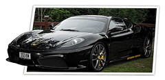 model car(0.0), automobile(1.0), automotive exterior(1.0), vehicle(1.0), automotive design(1.0), ferrari f430(1.0), bumper(1.0), land vehicle(1.0), luxury vehicle(1.0), supercar(1.0), sports car(1.0),