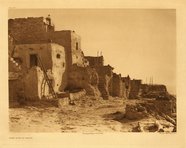 East Side of Walpi, by Edward S. Curtis