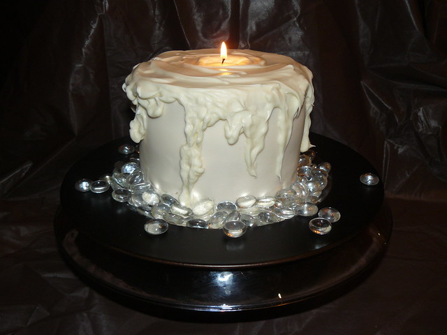 3-D Candle cake