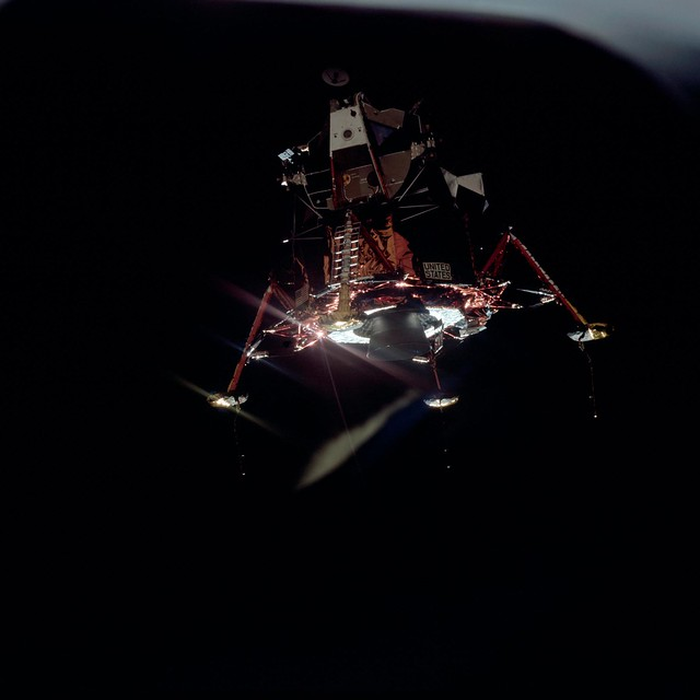 View of Lunar Module separation from the Command Module