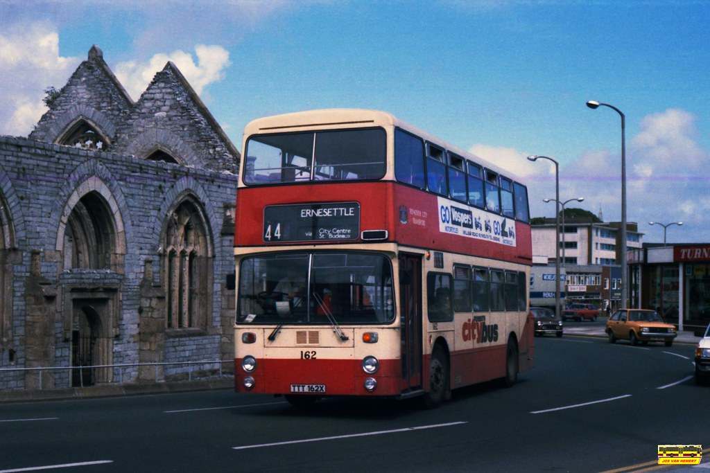 PCB Leyland Atlantean AN 162 - Ply., Charles Cross - 07-1984
