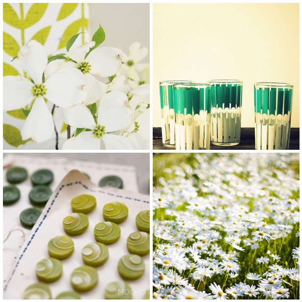 colour palette : green, green grass - curated by Emma Lamb