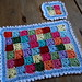 Tiny Granny square place mat and coaster