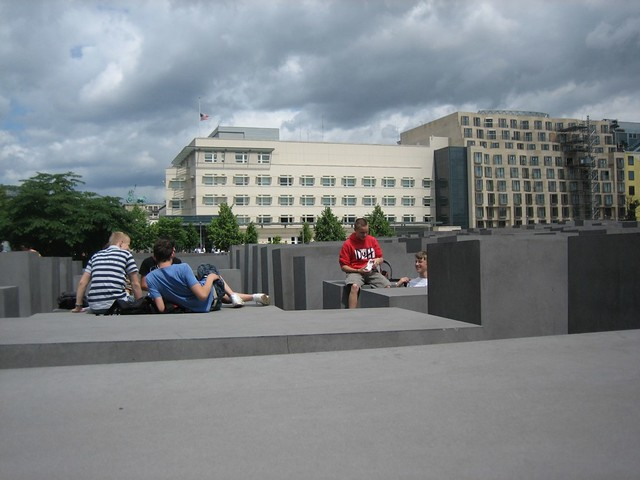 Kids Hanging Out On the Jewish Memorial