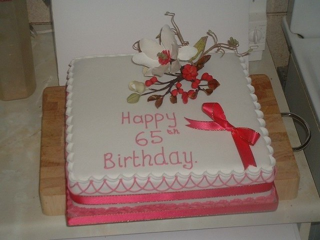 65th Birthday Flowers Cake Flickr - Photo Sharing!