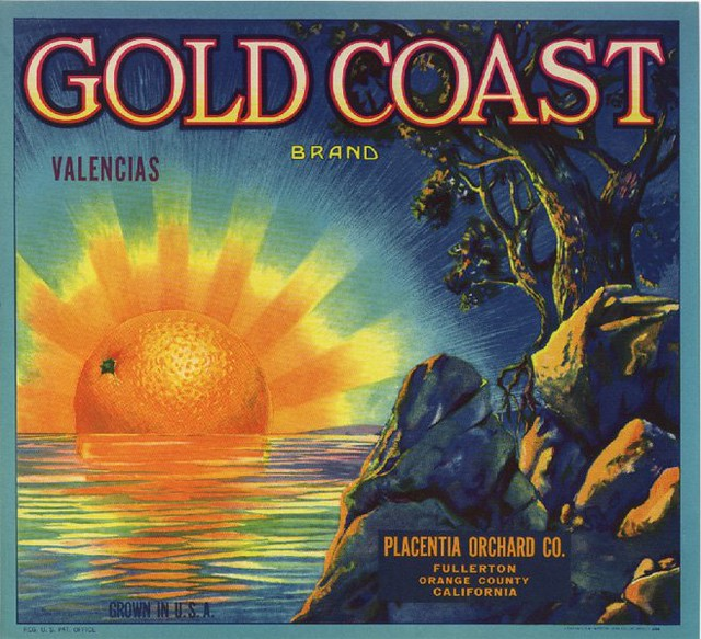 Gold Coast Orange Crate Label