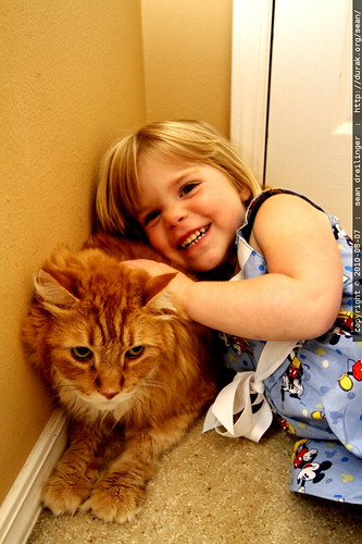 julia and her cat