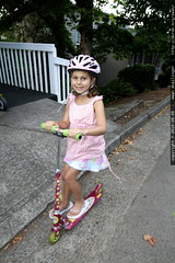 rebecca riding her scooter