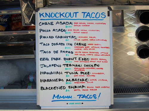 Knockout taco truck for Fish head cantina menu
