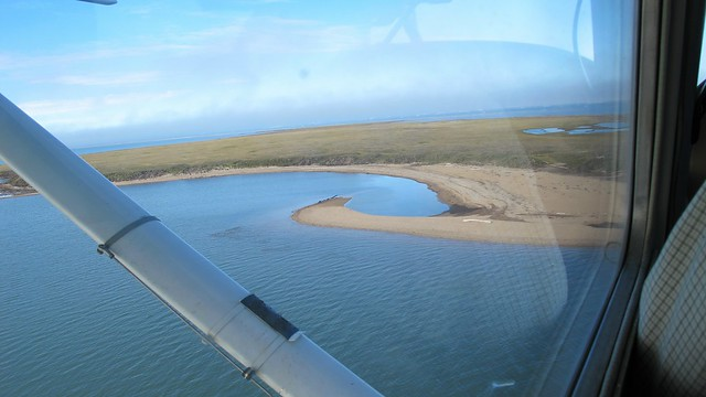 Flying over Flaxman Island