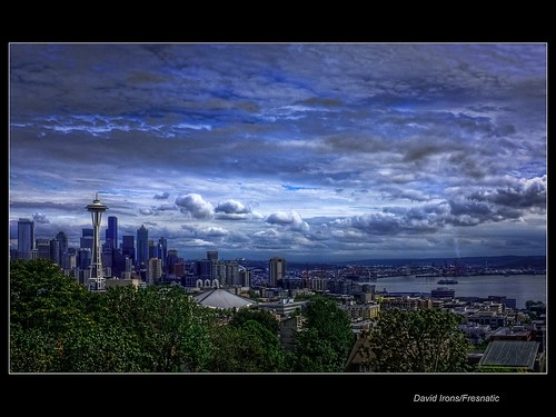 Seattle Postcard View Pseudo HDR