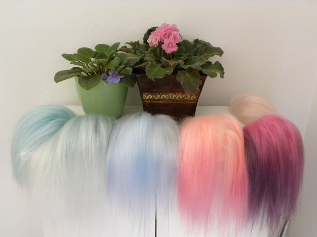 A rainbow of hairs.. lol