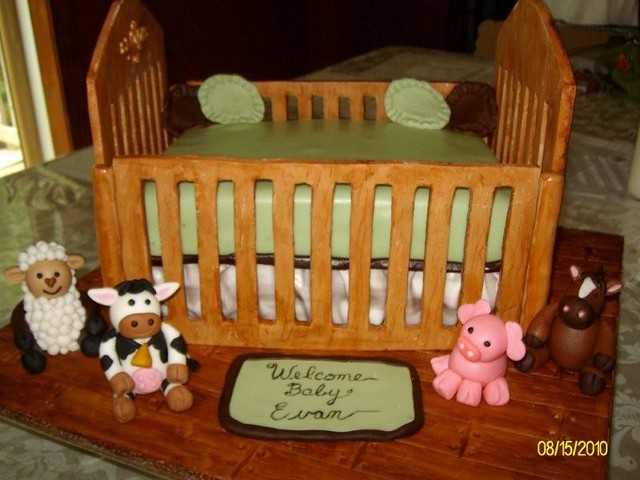 Fondant Baby Crib Template http://www.flickr.com/photos/momade_4u/4904846604/