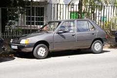 automobile, peugeot, vehicle, peugeot 205, land vehicle, hatchback,