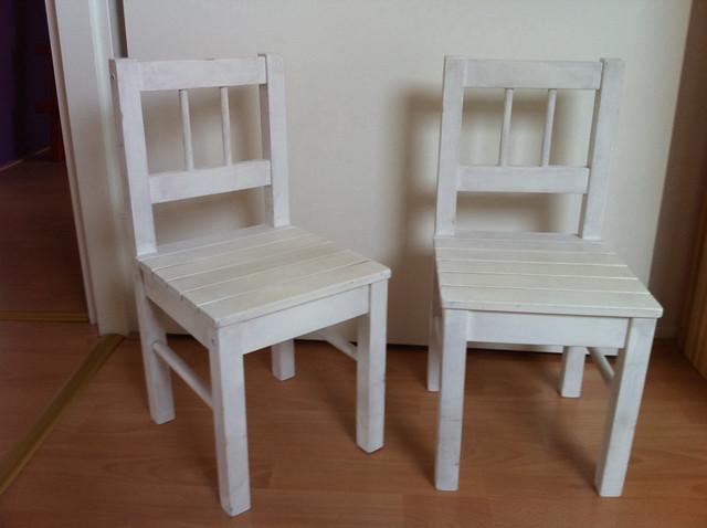 2x Ikea Gulliver houten kinderstoelen wit  Flickr - Photo Sharing!