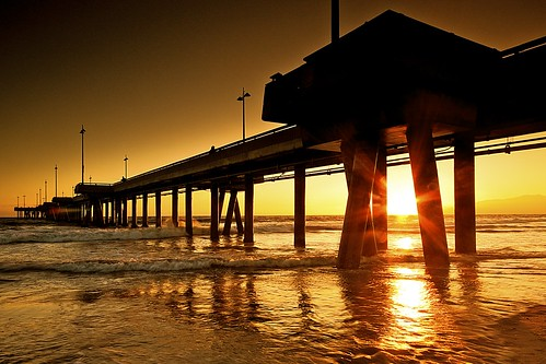 ocean california venice light sunset mountains beach wet water lights pier los sand waves pacific angeles filter cal shore lee pillars