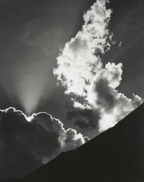 Evening Cloud, Ellery Lake, by Ansel Adams 1936