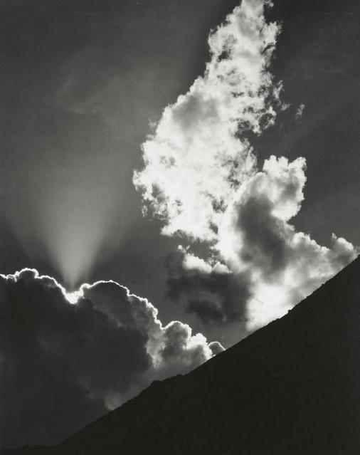 Evening Cloud, Ellery Lake, by Ansel Adams 1936