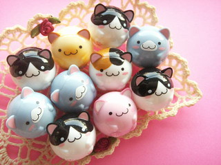 Kawaii Cute Maruneko Club Maracas Roly Poly Doll Collection