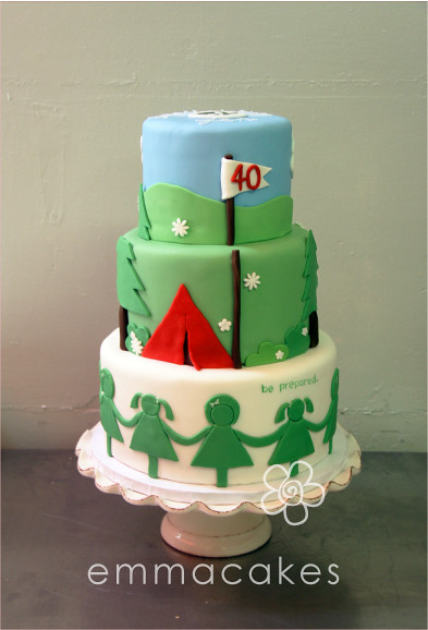 Cake Ideas For Girl Scouts : Brownie Girl Scout Cake Ideas 80836 Pin Bridging To Browni