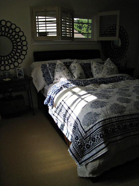 Blue and white bedding mixed floral print bedding master for The master bedroom print