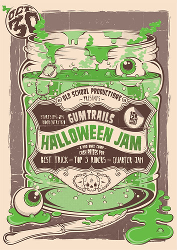 Halloween Jam Poster by Clement de Bruin