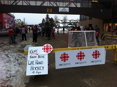 Road hockey on Main Street in Whitehorse #SHDiC