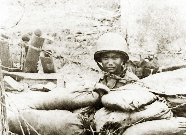 ARVN soldier with M72 LAW anti-tank rockets during the defense of An Loc