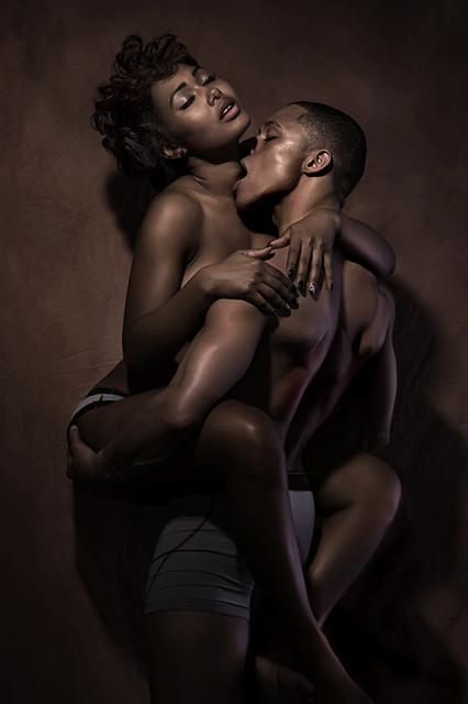 Black couple have sex