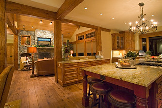 Steve Bennett Builders: Interior photo - professional kitchen and open floor plan