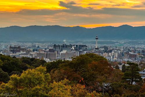 kyoto landscape asia travel city kiyomizu sky sunset japan autumn kyōtoshi kyōtofu jp