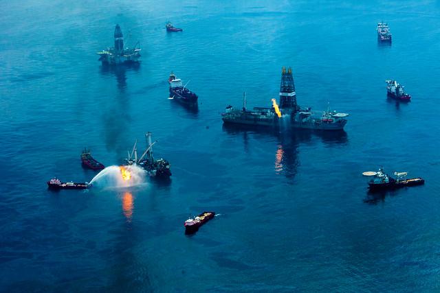 Ariel view of Deepwater Horizon spill
