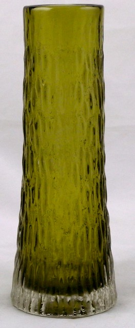 Whitefriars sage green tapered vase 9834