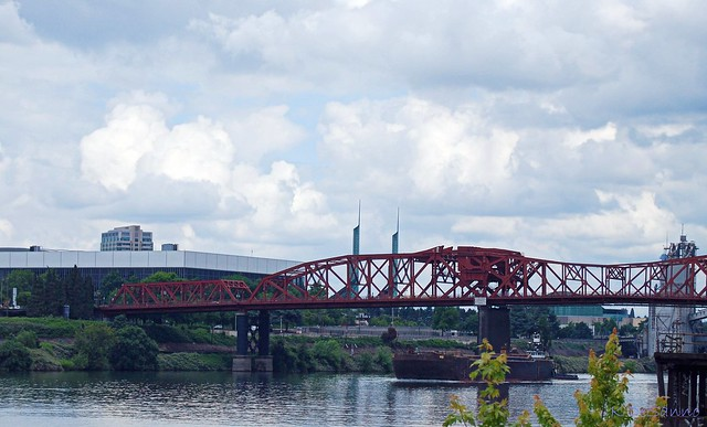 Broadway Bridge In Portland Oregon Flickr Photo Sharing