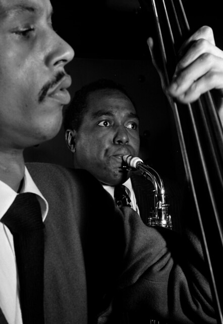 Charlie Parker and Tommy Potter, Three Deuces, New York, 1947, by William P. Gottlieb