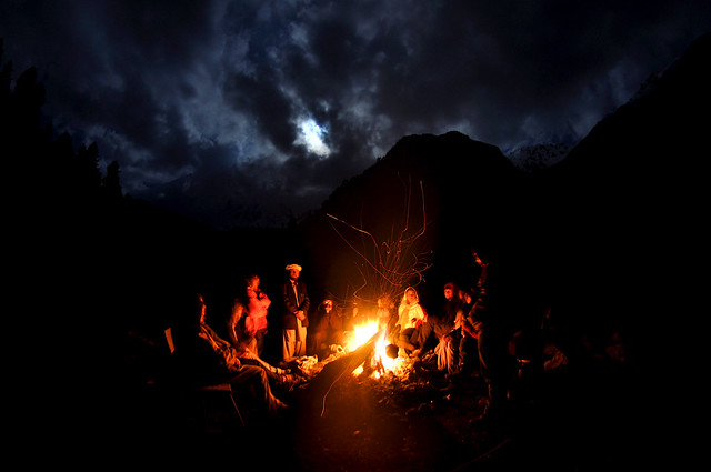 Campfire in Biyal Camp