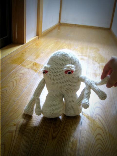 crochet white ghost