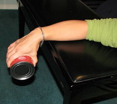 soup can wrist extensor exercise