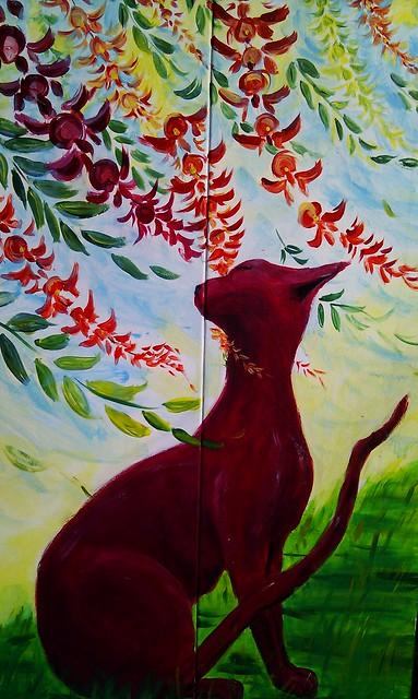 Purple cat - Lilyfield street art