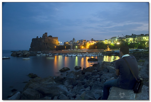Aci Castello - Me contemplating the beauty of the seascape