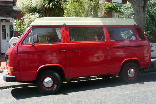 vw t3 red camper van flickr photo sharing. Black Bedroom Furniture Sets. Home Design Ideas