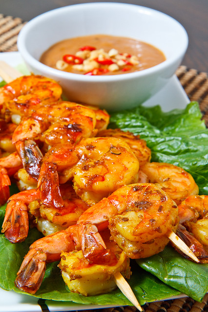 Shrimp Satay with Spicy Peanut Sauce | Flickr - Photo Sharing!