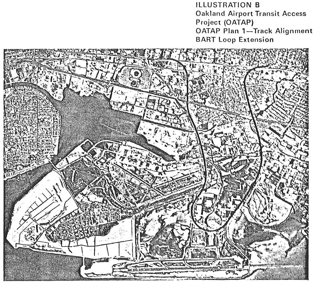 Oakland Airport Transit Access Project: Alternative B (1975)