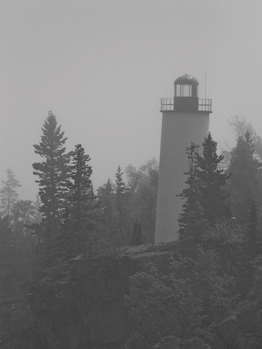 Rock Harbor Light in Fog